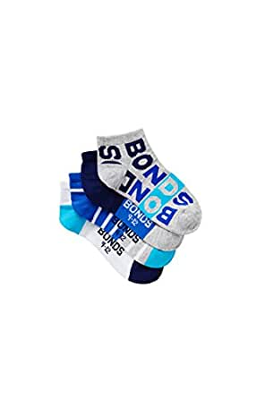 Bonds Kids Fashion Trainer Socks (4 Pack), Blue, Pack 01, 13-3 (8-10 Years)