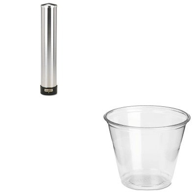 KITDXECP9ASJMC3400P - Value Kit - Dixie Clear Plastic PETE Cups (DXECP9A) and San Jamar Large Water Cup Dispenser w/Removable Cap (SJMC3400P) by Dixie
