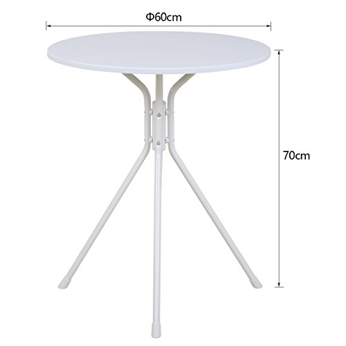 Funmall White Modern Round Table Tea Coffee Dining Living Room Furniture Home Decor with Splayed Leg Base by Funmall (Image #5)'