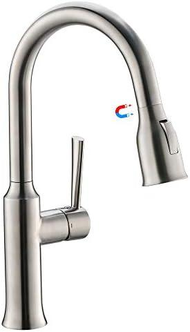 [スポンサー プロダクト]CREAキッチン用水栓 シングルレバー混合栓 引き出し式 キッチン混合水栓 シャワー&整流 台所 蛇口 エコハンドル 360°回転 節水