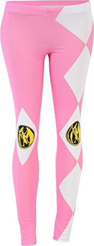 The Mighty Morphin Power Rangers Juniors Pink Leggings Tights Yoga Pants