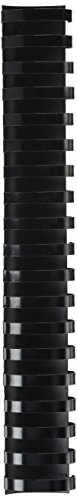 Fellowes Plastic Comb Binding Spines, 1 1/2 Inch Diameter, Black, 340 Sheets, 50 Pack ()