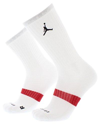 Nike Jordan Men's Dri-Fit Crew Socks Medium (shoe size 6-10) (White) (Jordan Dri Fit Socks)