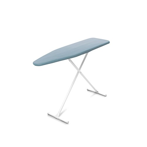 Homz T-Leg Adjustable Height Foam Pad Ironing Board with Cotton Cover, Blue Cover