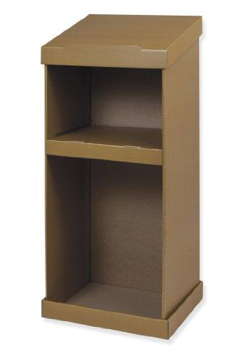 - PACON Cardboard Floor Lectern, 43-3/4 in H X 18-3/4 in W X 14-1/2 in D
