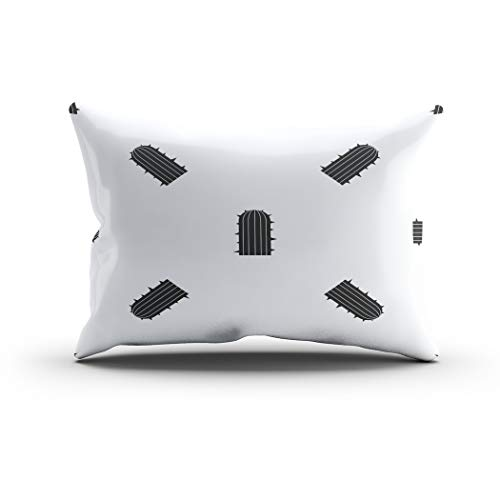 Sgvsdg Throw Pillow Cover Plant Desert Pattern Repeat Seamless Black Arizona Background Rectangle Hidden Zipper Home Sofa Living Room Office Cushion Decorative Pillowcase 12 X 24 Inch -