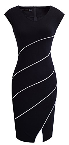homeyee-womens-chic-business-cap-sleeve-pencil-sheath-party-cocktail-dress-b365-12-black