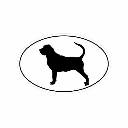 Bloodhound Euro Oval - Color Sticker - Decal - Die (Bloodhound Sticker)