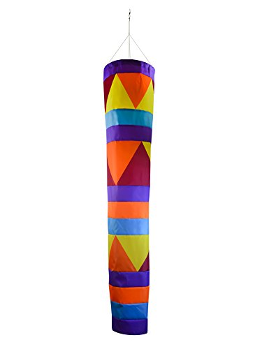 (In the Breeze 5046 Aztec Cone Windsock - Colorful Large Hanging Decoration - 60-Inches)