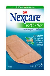 Nexcare Soft N Flex Natural Feel Bandages 2 Pack of 8 (Knee and Elbow 16 Count)