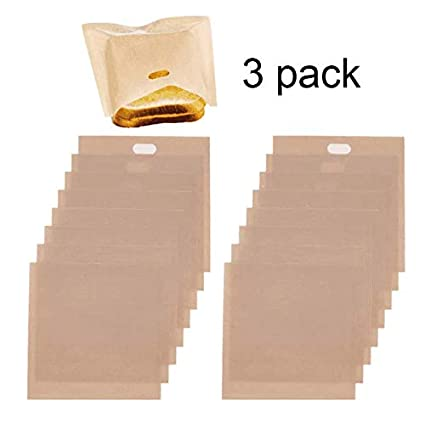 Amazon.com: KENOO Non Stick Toaster Bags, Reusable and Heat ...