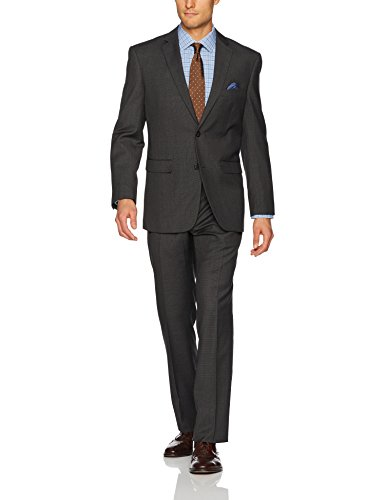 U.S. Polo Assn. Men's Nested Suit, Dark Grey Glen Plaid, 44 Regular