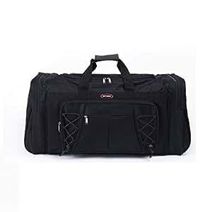 BEESCLOVER Waterproof Large Capacity Sports Gym Bag Outdoor Multifunction Sporting Travel Handbag Training Duffle Bags for Men Women Black One Size