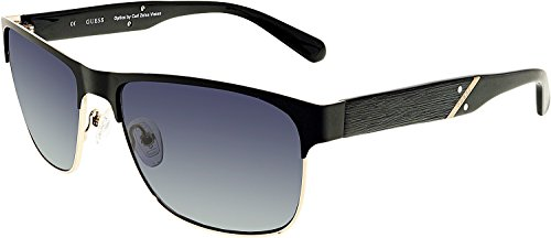 Guess Men's Designer Sunglasses, Black/Grey, ()
