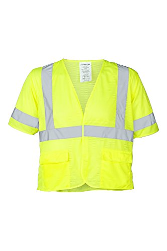 (Ironwear 1294FR-L-4-XLG ANSI Class 3 Flame Retardant Polyester Mesh SAFETY Vest with 2