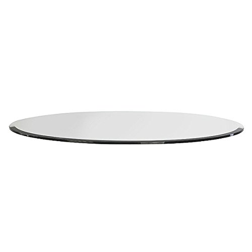 Milan RD303010BEC 30'' Round Tempered Glass Top 3/8'' Thick with 1'' Bevel Edge clear by MILAN (Image #4)