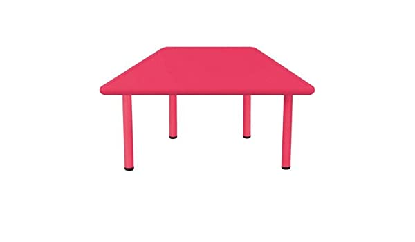 Trapezoidal mesa 60 X 120, 6 personas, color rojo: Amazon.es ...