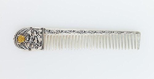 Silver Hair comb with Zodiac Horoscope Astrology Sign ''Sagittarius'' by Sribnyk - Gallery of Silver Art