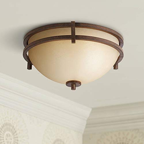 - Oak Valley Collection Mission Ceiling Light Flush Mount Fixture Rustic Bronze 15