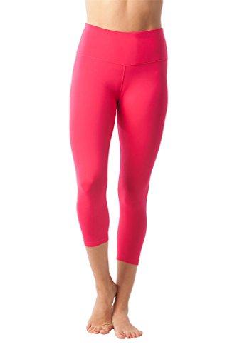 Buy cheap 90 Degree By Reflex – High Waist Tummy Control Shapewear – Power Flex Capri- Rubine Red - Small