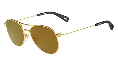 G-star Raw Accessories (G-Star Raw GS109S Aviator Sunglasses, Gold, 54 mm)