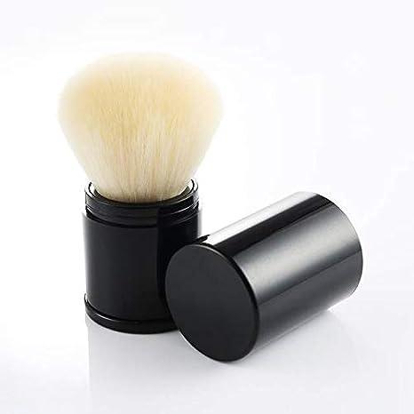 AUSKY Pro Cosmetic Beauty Makeup Minerals Powder Brush Travel Retractable Kabuki Brush, Foudation Blush Brush Cosmetic Tool (Black brush)