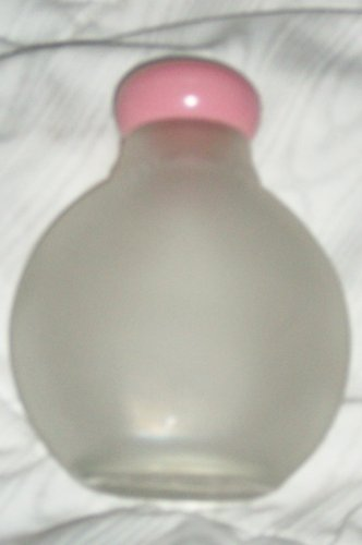 (Avon Vintage Frosted Glass Powder or Perfume Bottle Container, Refillable, No Box (Empty))
