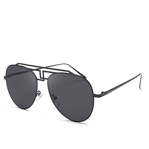 Colores Gafas Gafas Metal Plateadas De Marco Gran Gafas Sol Damas para Huecas De Sol De negro Sol De Sapos JUNHONGZHANG De De wnC7ROTTtq