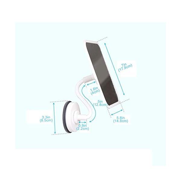 Specchio per il trucco A parete Specchio da toilette, Ventosa portatile rettangolare HD 360 gradi di rotazione tazza di… 2 spesavip