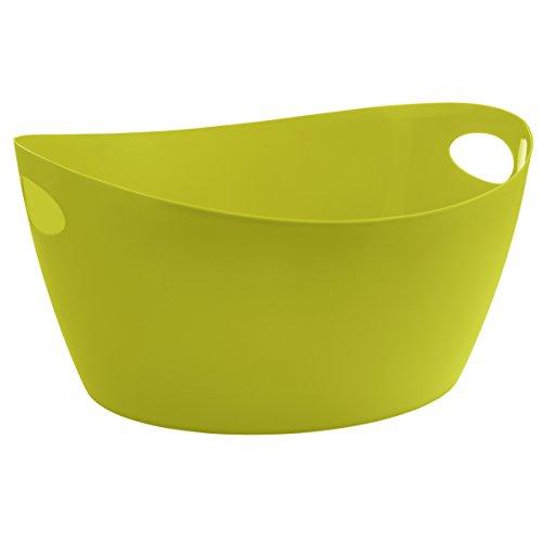 Bottichelli Washtub L Solid BLACK Mustard Green
