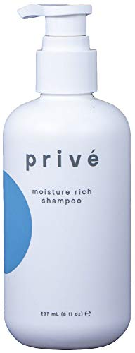 Privé Moisture Rich Shampoo (8 Fluid Ounce / 237 Milliliter) - Give Your Dry and Lifeless Hair a New Lease on Life With a Concentrated Hydration Therapy