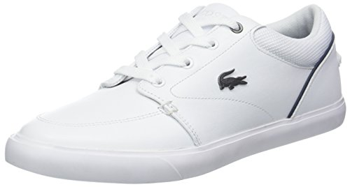 Hommes Lacoste 318 2 Bayliss Came Blanche Sneaker (wht / Nvy 042)