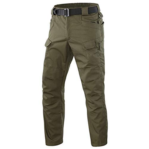 ShanMo Men's Tactical Pants Casual Military Army Combat Outdoor Quick Dry Camouflage Trousers (Green, 38W/30L)