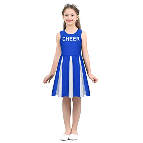 ranrann School Girls Classic Sleeveless Cheerleading Costume