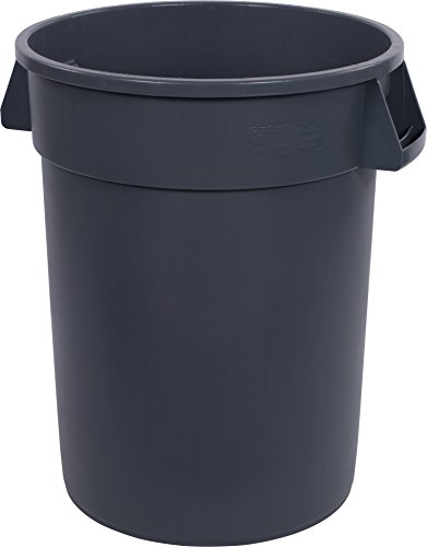 (Carlisle 34103223 Bronco Round Waste Container Only, 32 Gallon, Gray (Pack of 4))