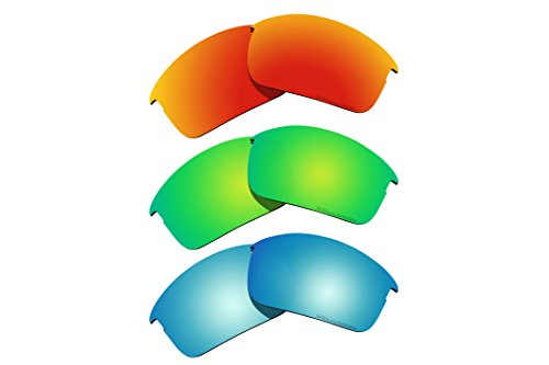 3 Pairs Polarized Lenses Replacement for Oakley Bottle Rocket Sunglasses R2