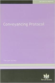 Book Conveyancing Protocol