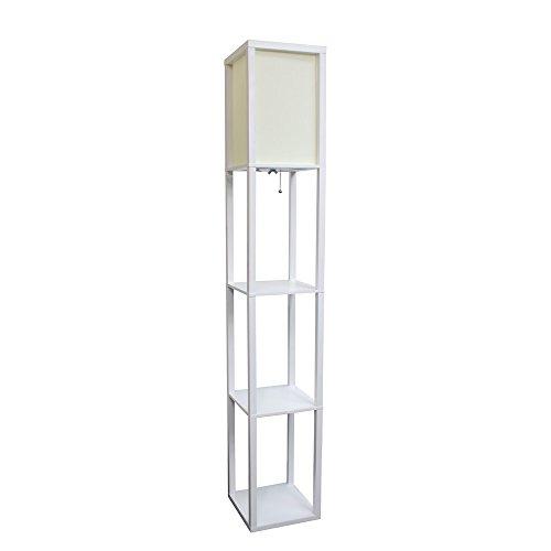 Simple Designs White Home Floor Lamp Etagere Organizer Stora