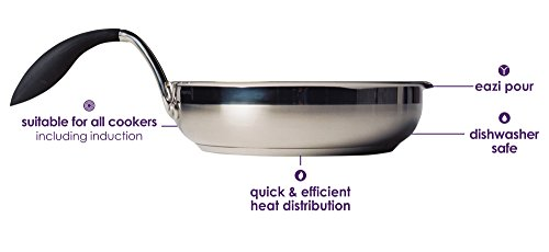 "Eazigrip 2351 9.5"" Stainless Steel Non Stick Frying Pan"
