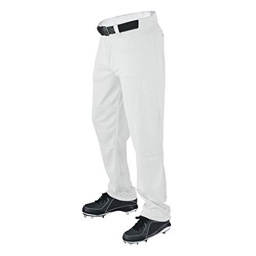 Wilson Men's Classic Relaxed Fit Baseball Pant, White, Small