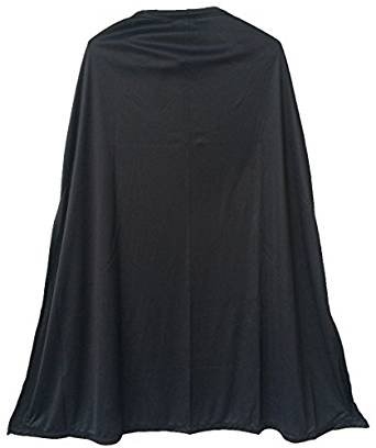 [Black Superhero Cape (One Size Fits All)] (Maid Costume Party City)