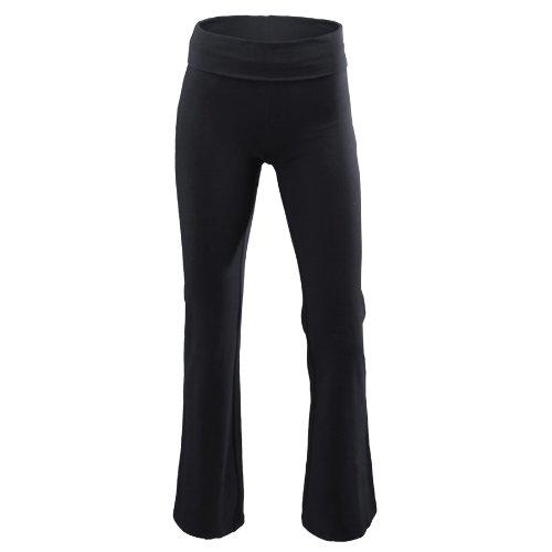 (Soffe Juniors Yoga Roll-Top Pant, Black, Small)
