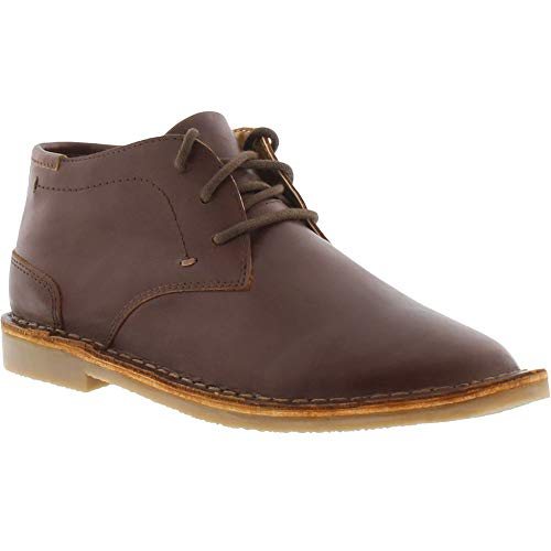 (Kenneth Cole REACTION Boys' Real Deal Chukka, Crazy Horse Brown, 6.5 M US Big Kid)