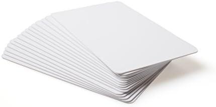 10 x NFC Visitenkarten Tags | NXP Chip NTAG215 | 504 Bytes Speicherkapazität | weiße Hartes PVC Karten | Hohe Scankraft | Gleich wie Tagmo Amiibo