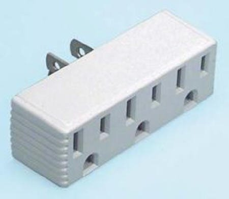 Three Outlet Grounded Convertor