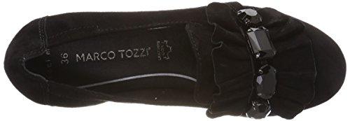 Beige Noir 24221 Premio Femme black Mocassins Tozzi Marco BapXW