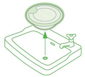 三栄水栓 【洗面器排水口用】 洗面器ゴミ受 PH3920