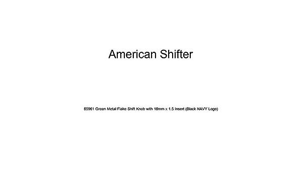 Orange Deer American Shifter 266890 Green Flame Metal Flake Shift Knob with M16 x 1.5 Insert