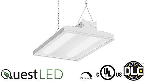 Quest 2FT Linear LED High Bay Light, 120V/277V, 160W, 21,222 Lumens, CRI>80 Beam Spread 110, 5000K, ETL and DLC Certified, Commercial Warehouse Lighting Fixture, Indoor Industrial Lights