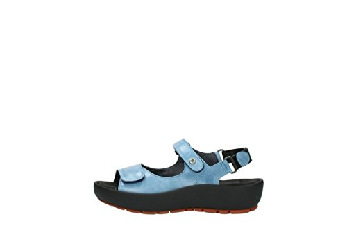 Wolky Womens 3325 Rio Leather Sandals 382 denim blue leather